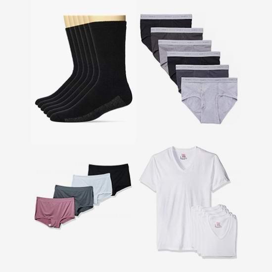 黑五头条:金盒头条:精选多款 Hanes 恒适 成人儿童T恤、文胸、内裤、袜子、秋裤等5折起!