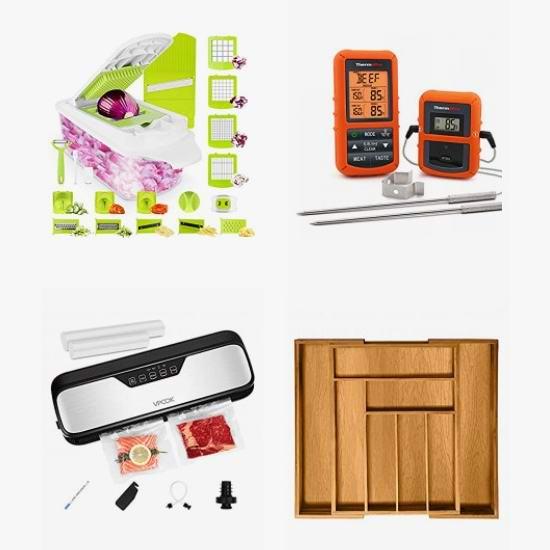 黑五头条:精选 ThermoPro、VPCOK 等品牌切菜器、厨房数字温度计、菜板、浴缸置物架、低温烹煮器、真空保鲜密封机、置物台等6.5折起!