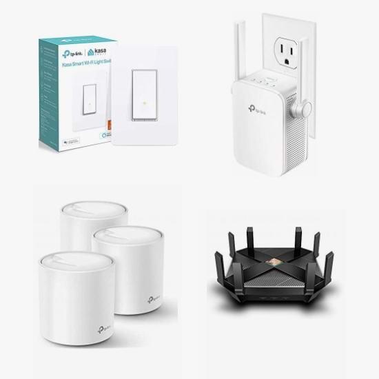 黑五头条:精选 TP-Link、Kasa、NETGEAR 等品牌路由器、WiFi网格系统、智能开关、信号延伸器、电力猫、智能插座、无线网卡等4折起!