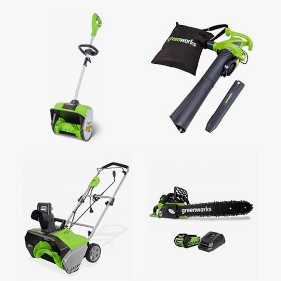 网购周头条:精选多款 Greenworks 电动铲雪机、电锯、修枝机、吹扫机、锂电池6.4折起!