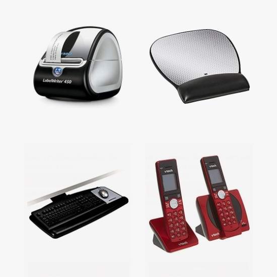 网购周头条:精选 VTech、3M、Casio 等品牌无绳电话、碎纸机、标签打印机、鼠标垫、键盘托架、计算器、显示器支架、腰枕等办公用品4.1折起!