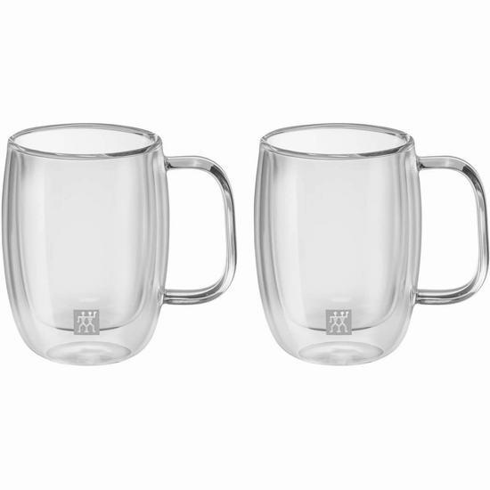 Zwilling 双立人 Sorrento Plus 双层隔热保温 咖啡杯/饮料杯(134ml)2件套4.8折 12.99加元!