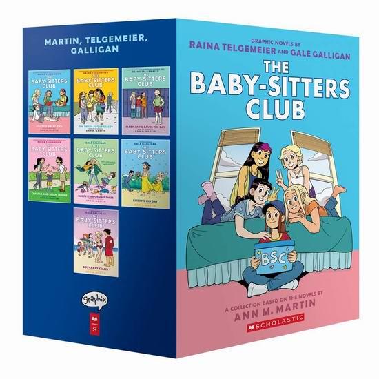 历史新低!儿童畅销书《The Baby-Sitters Club Graphix 保姆俱乐部》全彩漫画1-7全集5.6折 54.59加元包邮!
