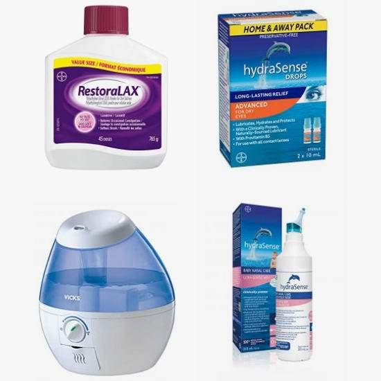 网购周头条:精选 hydraSense、Sunbeam、Bayer、OMRON 成人儿童天然海洋生理盐水鼻腔喷雾、眼药水、血压计、电热理疗垫、加湿器等6.1折起!