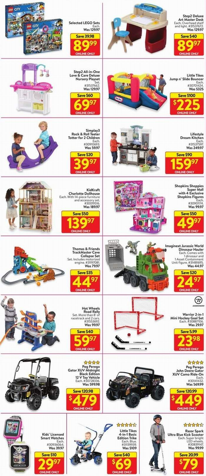 Walmart网络星期一开抢!平板、50吋电视8、游戏本9.98、床架9.97!