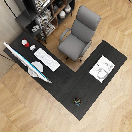 DlandHome L型时尚电脑桌/办公桌 118.14加元限量特卖并包邮!