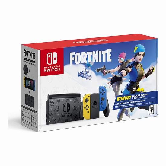 网购周专享:Nintendo 任天堂 Switch 便携式游戏机+《Fortnite 堡垒之夜》套装 399.95加元包邮!