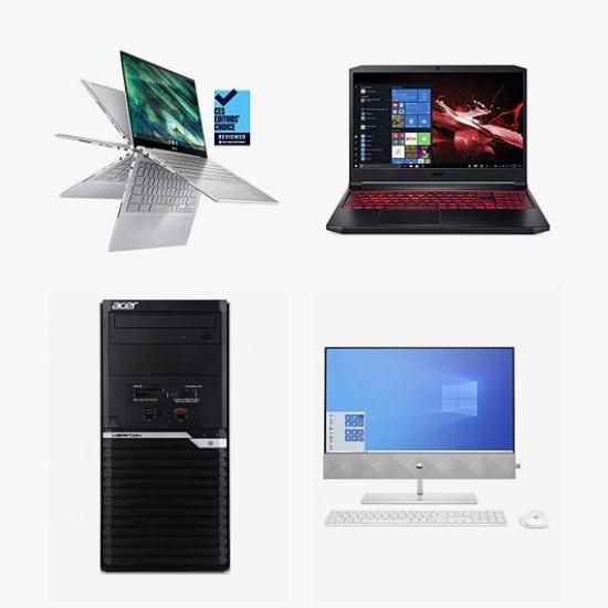 网购周头条:精选 HP、Acer、LG、MSI 品牌笔记本电脑、游戏笔记本、台式机、台式游戏机、一体式台式机6.4折起!