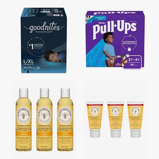 网购周头条:精选多款 Pull-Ups、Burt's Bees 幼儿如厕训练裤/拉拉裤、大童尿不湿、沐浴液、护臀膏等5.4折起!