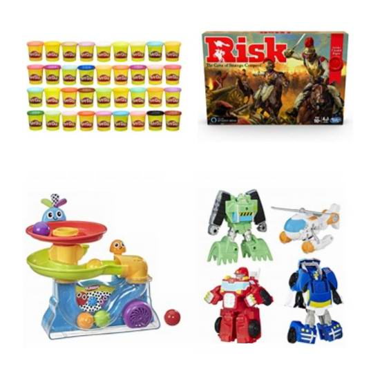 网购周头条:精选 Hasbro 孩之宝 儿童益智玩具、彩泥玩具、变形金刚、棋牌游戏等7折起!