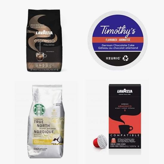 网购周头条:精选 Keurig、Lavazza、星巴克等品牌咖啡胶囊、咖啡豆、咖啡粉6折起!