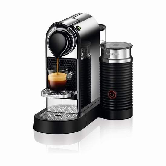 网购周头条:DeLonghi 德龙 Nespresso CitiZ 胶囊咖啡机及奶泡机套装 174.62-219.98加元包邮!