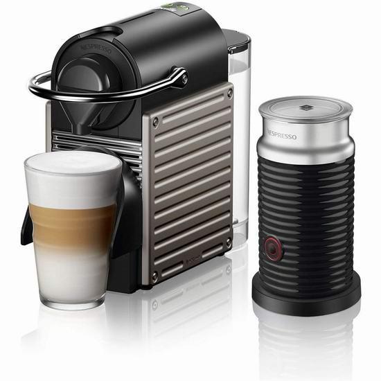 历史最低价!Nespresso Pixie 胶囊咖啡机及奶泡机5折 99-169加元包邮+送价值25加元咖啡胶囊抵用券!
