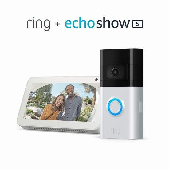 新品 Ring Video Doorbell 3 智能可视门铃5.6折 194.99加元包邮!另有plus版 224.99加元!送价值99.99加元Echo Show 5智能显示器!