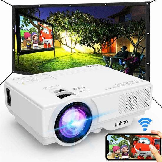 Jinhoo 5500流明 WiFi无线 LED家庭影院投影仪 99.99加元包邮!