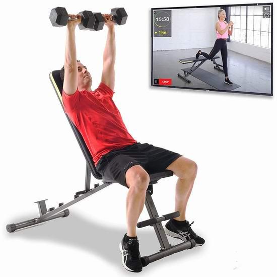Fitness Reality 1000 800磅 12位置 室内家用健身凳5.7折 169.99加元包邮!