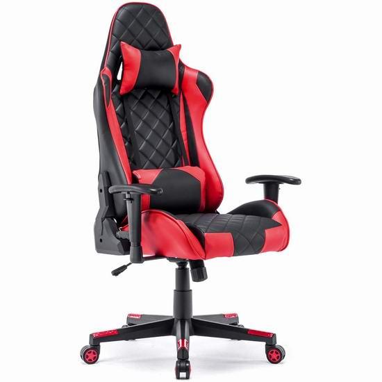 DJ·Wang 人体工学 高靠背赛车办公椅/游戏椅 177-194加元包邮!5色可选!