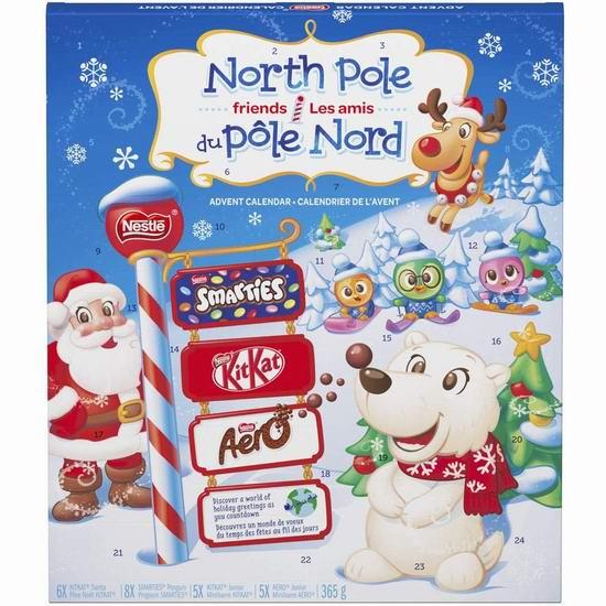 金盒头条:NESTLÉ 圣诞倒数日历 巧克力糖果套装 9.09加元!两款可选!