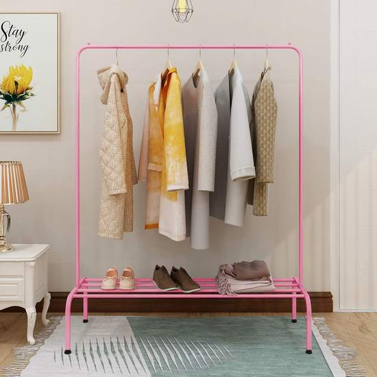 历史新低!BOFENG 多用途 粉色钢结构晾衣架6.3折 25.49加元!