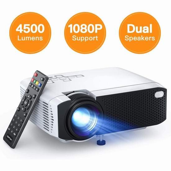APEMAN 4500流明 家庭影院LED高清投影仪5.4折 86.73加元限量特卖并包邮!