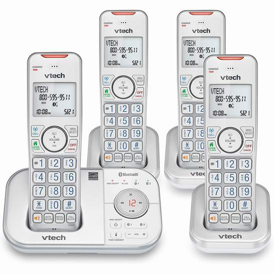 金盒头条:精选 VTech、AT&T 一拖一/拖二/拖三 无绳电话7.9折起!支持手机秒变座机!