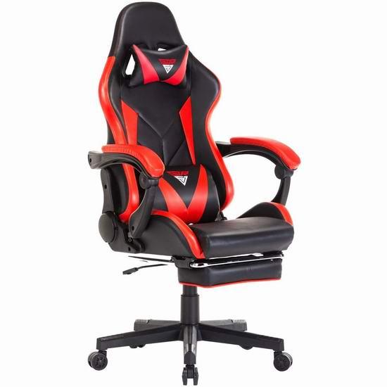 GTRSJ 人体工学 高靠背赛车办公椅/游戏椅 199.99加元包邮!5色可选!