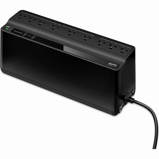 历史新低!APC by Schneider 850VA UPS 家庭不间断备用电源插线板 118.98加元包邮!