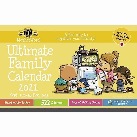 金盒头条:MotherWord 16个月 豪华家庭版挂历8折,低至11.99加元!3款可选!
