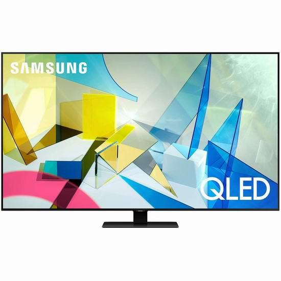 历史新低!Samsung 三星 55英寸/65英寸 Q80T 4K超高清 光质量子点 QLED智能电视 1298-1798加元包邮!