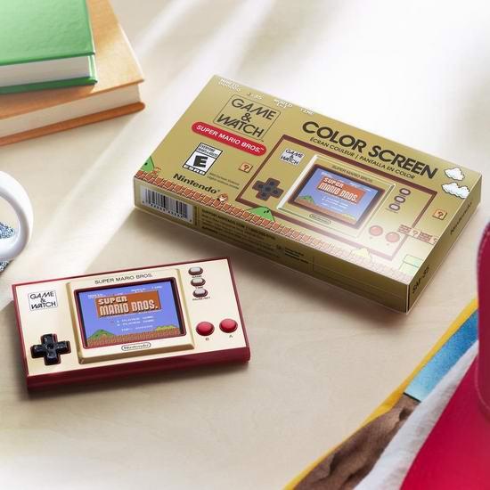 新品 Nintendo 任天堂 Game & Watch:Super Mario Bros 复古掌上游戏机 69.89加元包邮!