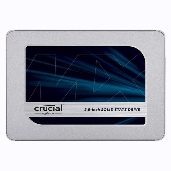 历史新低!Crucial 英睿达 MX500 3D NAND 500GB 2.5英寸固态硬盘 70.99加元包邮!
