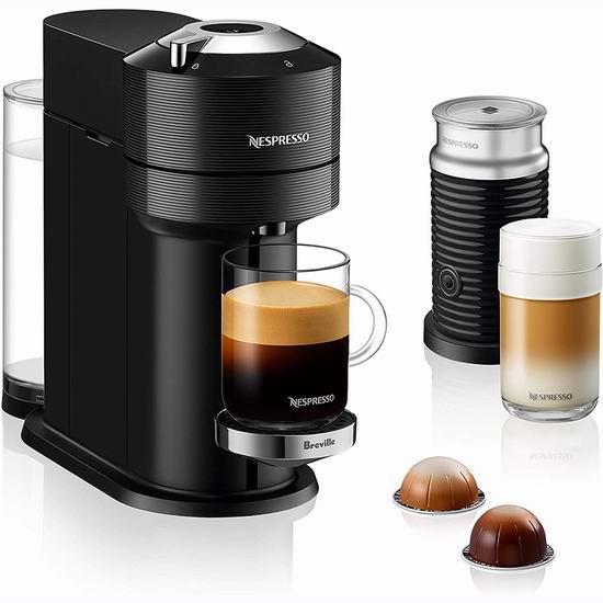 历史新低!Nespresso Vertuo Next 蓝牙智能胶囊咖啡机、及奶泡机套装4.5折 99-169加元包邮!