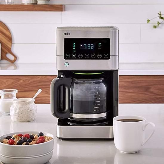 节礼周头条:历史最低价!Braun 德国博朗 KF7370SI 可编程 12杯量滴滤式咖啡机 99.98加元包邮!