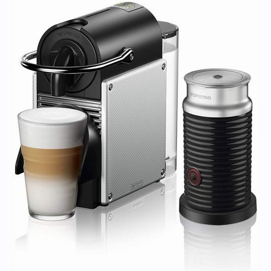 历史最低价!DeLonghi 德龙 Nespresso EN124SAECA Pixie 胶囊咖啡机、及奶泡机套装 99-169加元包邮!