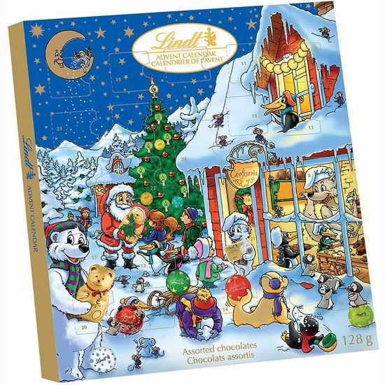 金盒头条:Lindt 瑞士莲 圣诞倒数日历巧克力(128g) 9.79加元!
