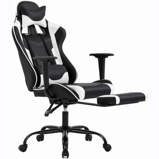 BestOffice 人体工学 高靠背赛车办公椅/游戏椅 5.9折 147.99加元包邮!