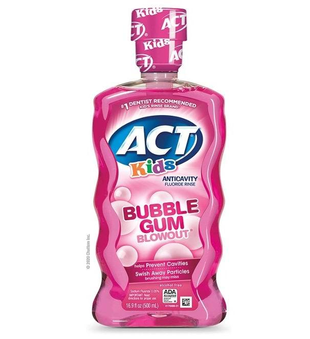 ACT儿童抗蛀牙氟化物漱口水 16.9盎司 15.19加元