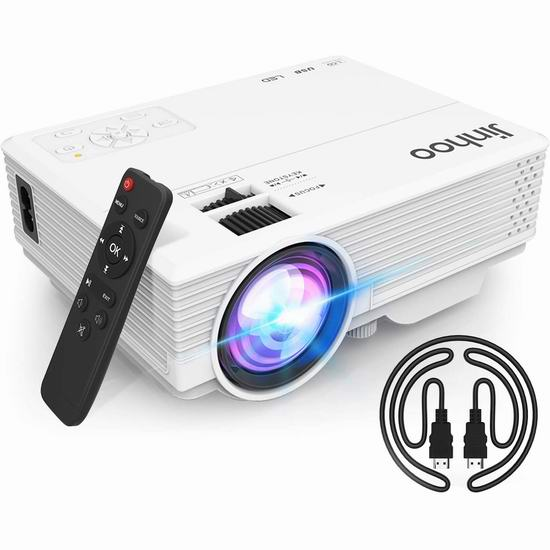 Jinhoo 5500流明 LED家庭影院投影仪 64.99加元限量特卖并包邮!