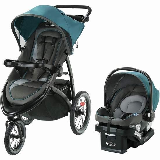 历史新低!Graco FastAction Jogger Lx 大三轮婴儿推车+提篮套装6折 319.97加元包邮!