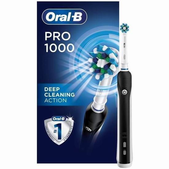Oral-B 1000 3D震动电动牙刷 49.97加元包邮!3色可选!