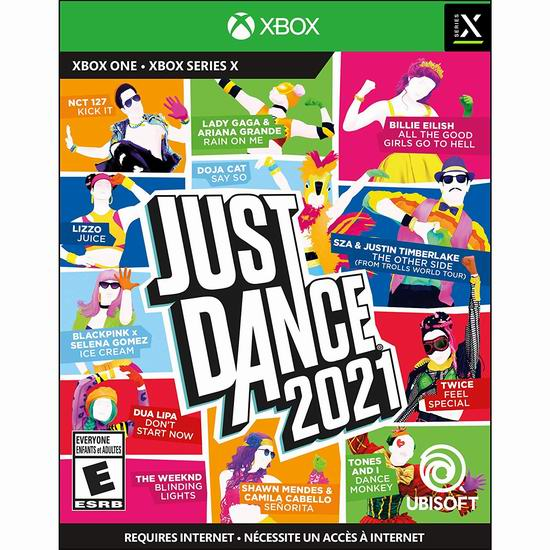 《Just Dance 舞力全开 2021》Switch/PS4/PS5/Xbox One版游戏 29.15-29.99加元!