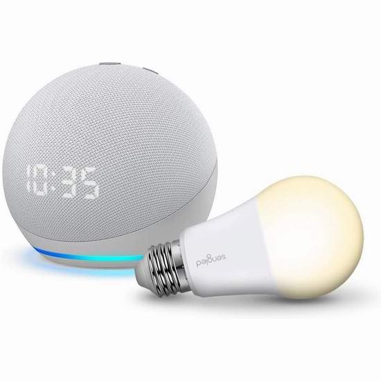 历史新低!新品 Echo Dot 第四代球形智能音箱4.7折 39.99-49.99加元包邮!送智能灯泡!3色可选!
