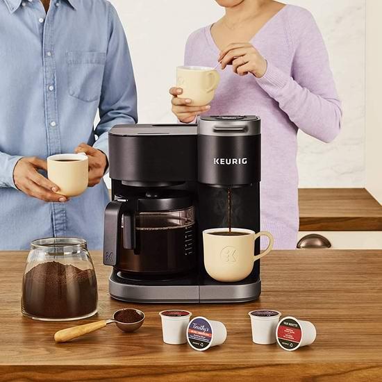 历史最低价!Keurig K-Duo 单杯胶囊+12杯咖啡壶 2合1咖啡机6折 149.99加元包邮!