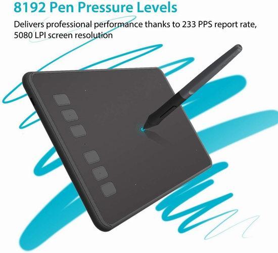 Huion 绘王 H640P 无源手绘板/数位板/绘画板/手写板 43.34加元限量特卖并包邮!