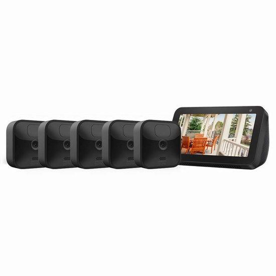 黑五价!历史新低!新品 All-new Blink 室内/室外 家用高清安防 智能摄像头 2-5摄像头套装4.7折 159.99-344.99加元包邮!送价值99.99加元Echo Show 5智能显示屏!