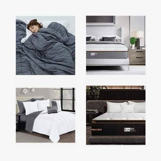 黑五头条:精选 BedStory、puredown 等品牌床垫、羽绒被、重力被、床套、枕套、床上用品套装5.8折起!