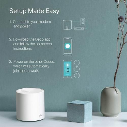 近史低价!TP-Link WiFi 6 Mesh WiFi AX3000 双频智能无线路由器 2件套 299.99加元,原价 399.99加元,包邮