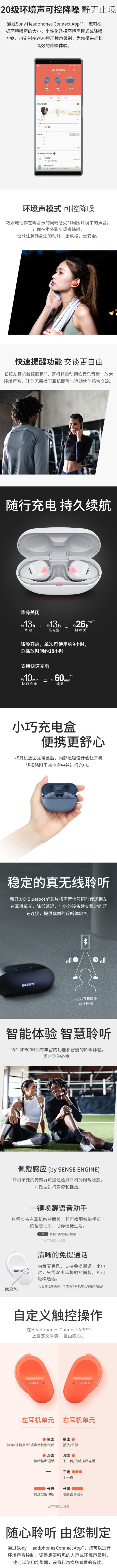 历史最低价!Sony 索尼 WFSP800N 重低音降噪 真无线耳机5.3折 148加元包邮!4色可选!