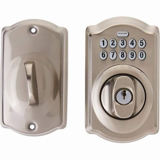 Schlage 西勒奇 BE365 CAM 622 家用密码门锁5.8折 98加元包邮!2款可选!