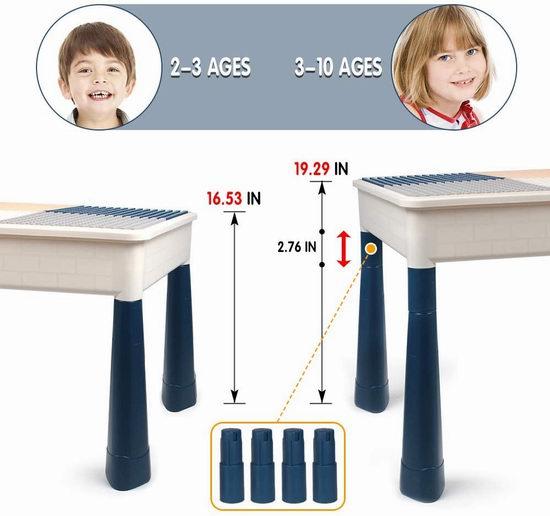 KIDCHEER 七合一 多功能积木游戏桌套装 79.89加元包邮!送158pcs积木!